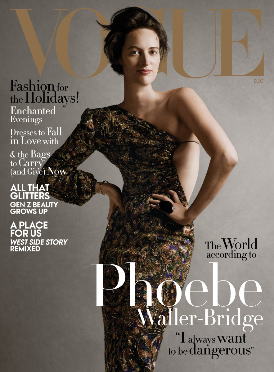 Phoebe Waller-Bridge in Saint Laurent for Vogue's December issue. Photo: Ethan James Green