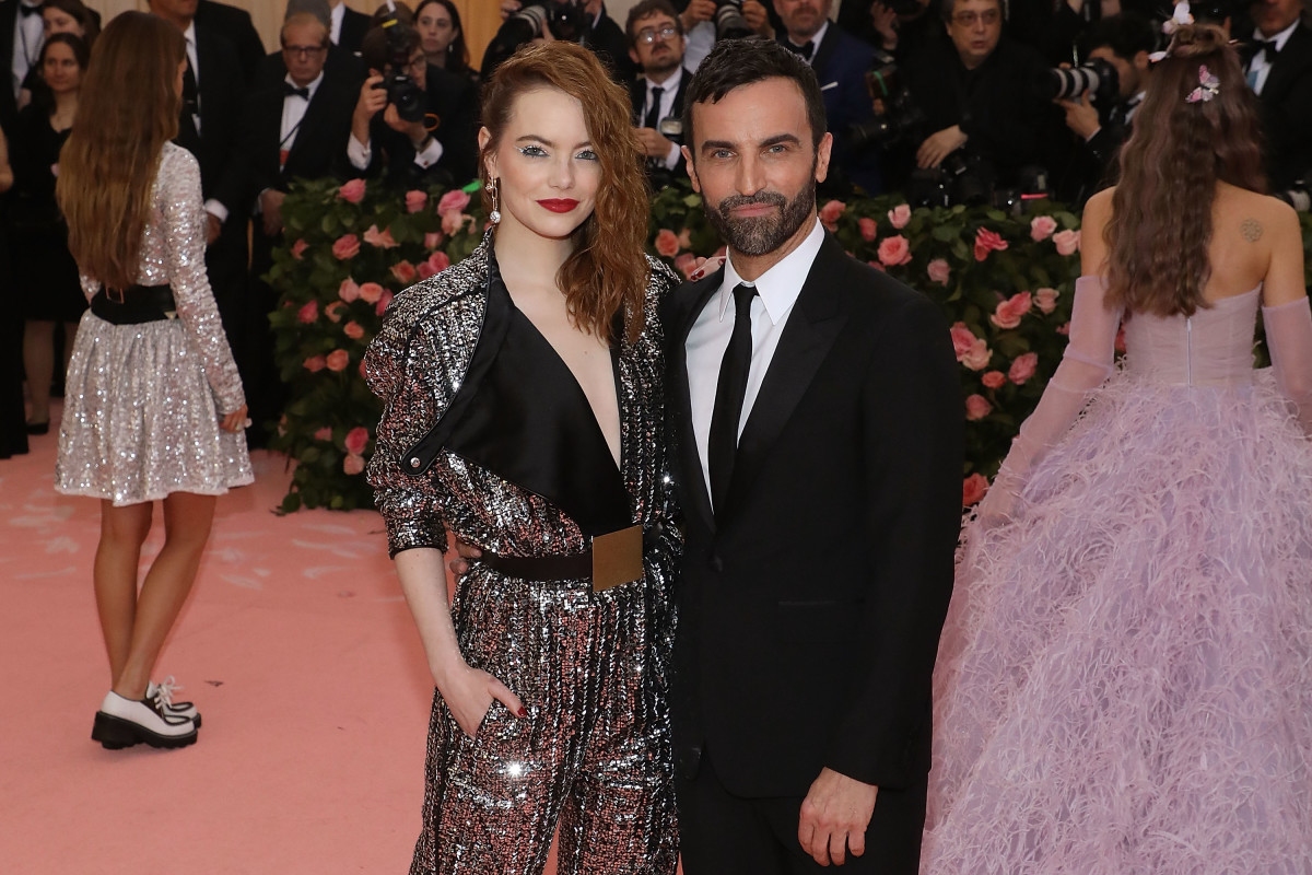 Emma Stone andNicolas Ghesquière at the 2019 Met Gala. Photo: Taylor Hill/FilmMagic