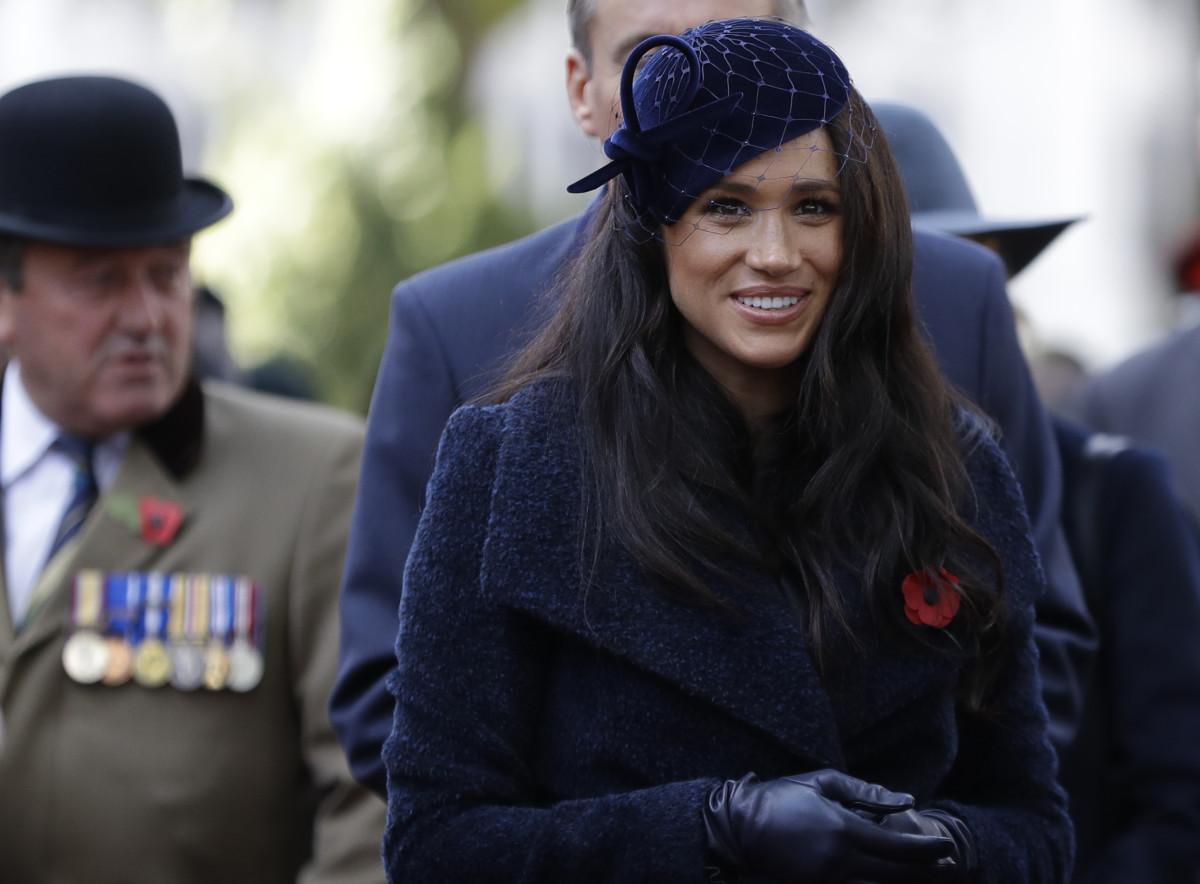 The Duchess of Sussex at the 91st Field of Remembrance at Westminster Abbey. Photo: Kirsty Wigglesworth - WPA Pool/Getty Images