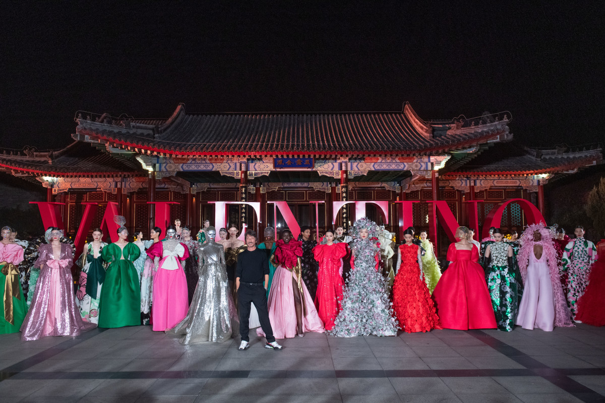Looks from the Valentino Beijing couture collection. Photo: Courtesy of Valentino