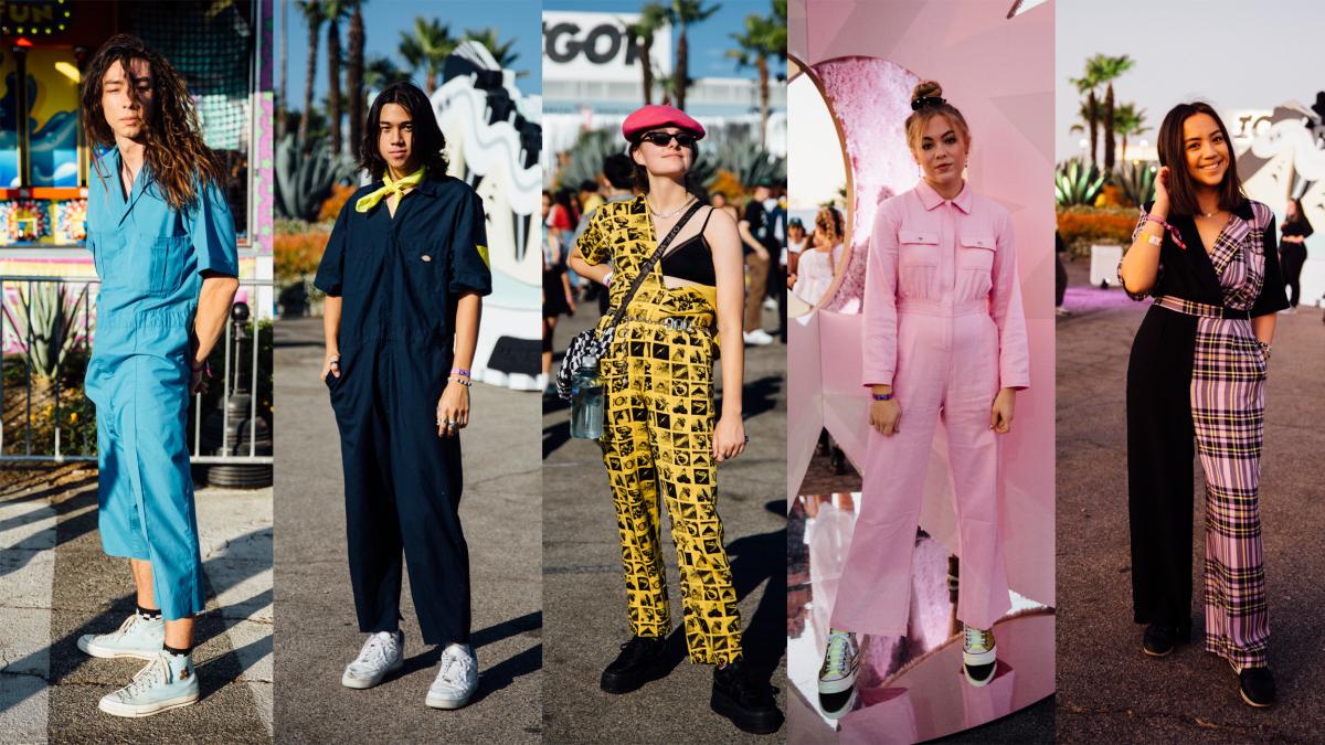 Street style at Camp Flog Gnaw 2019. Photo: Emily Malan/Fashionista
