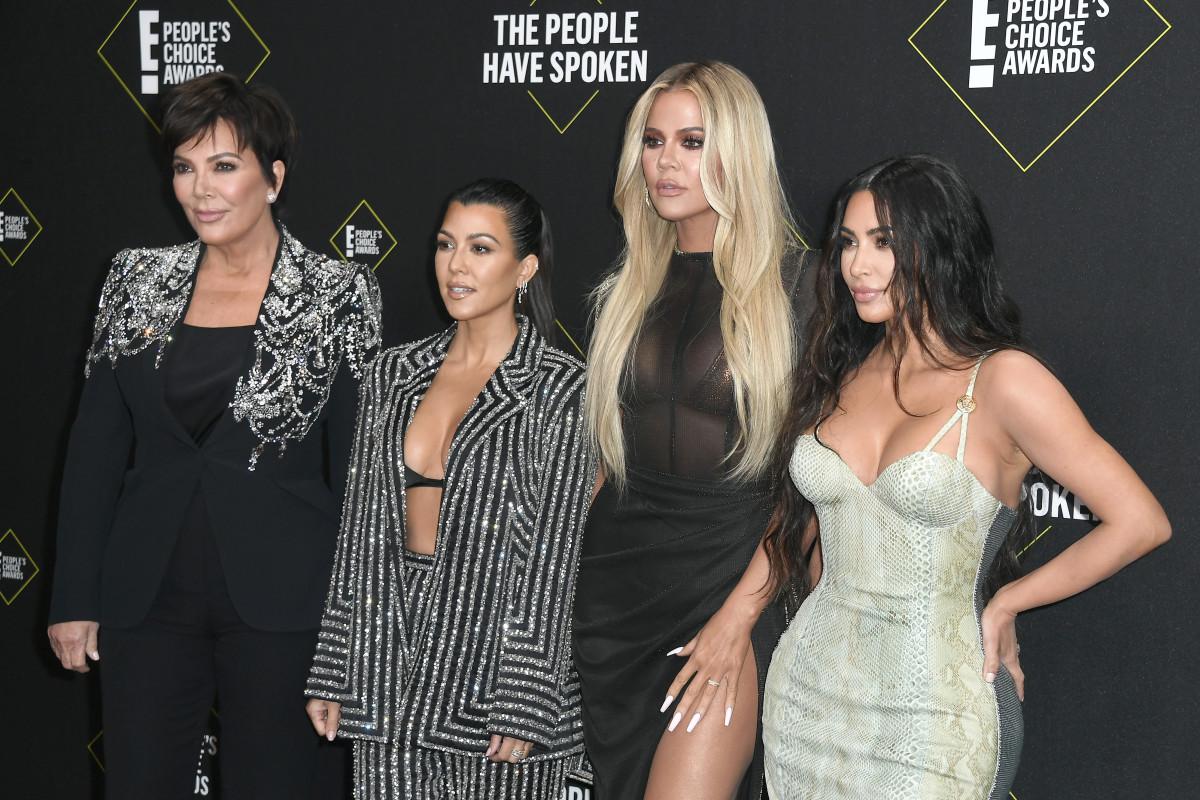 Kris Jenner, Kourtney Kardashian, Khloe Kardashian and Kim Kardashian West. Photo: Frazer Harrison/Getty Images