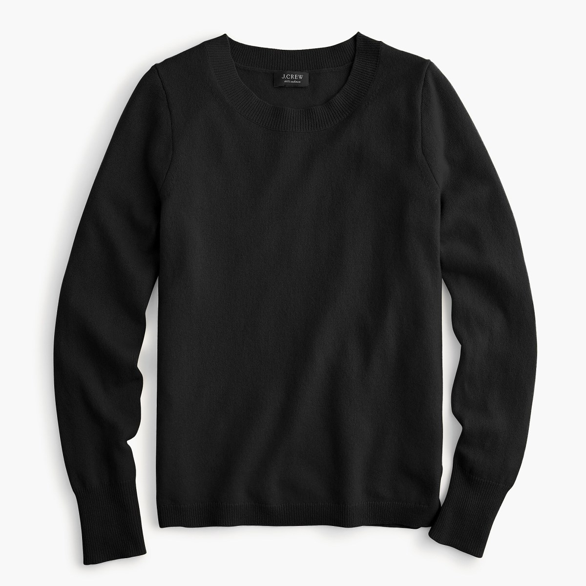 J.Crew Long-Sleeve Everyday Cashmere Crewneck Sweater, $98, available here.