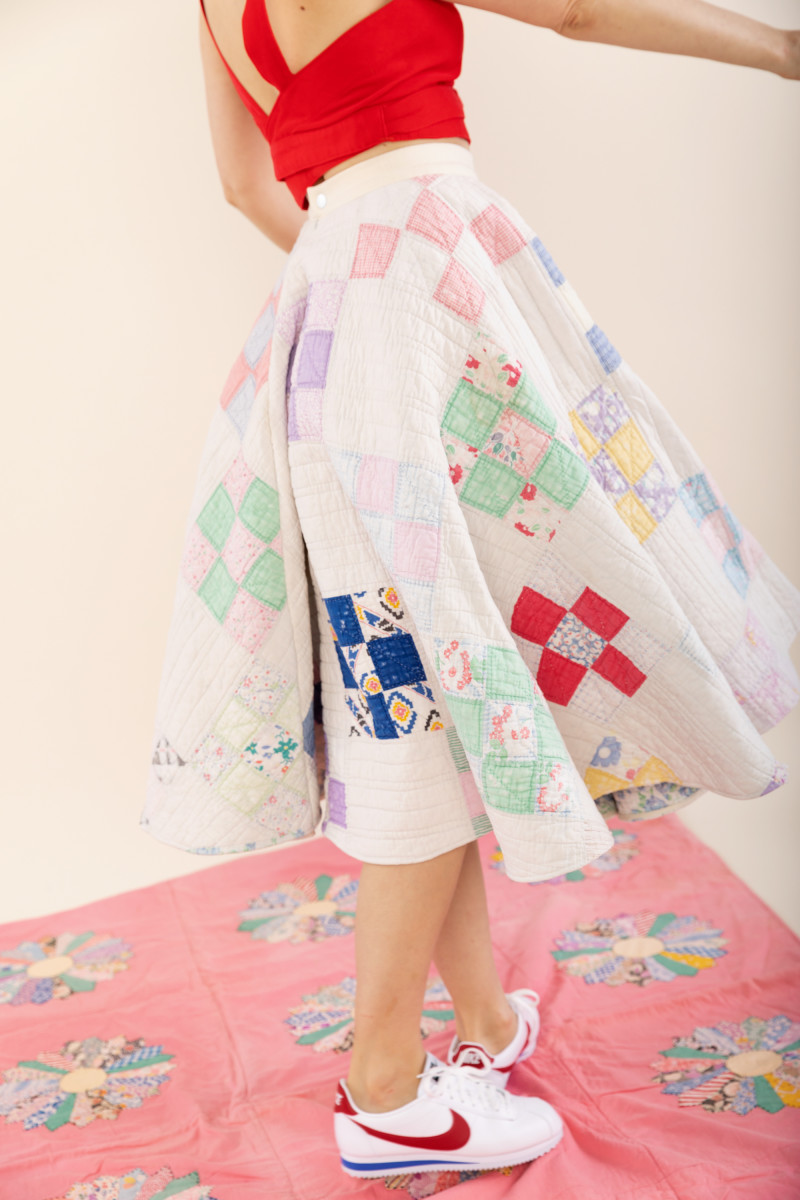 Carleen Quilt Skirt, $575, available here.