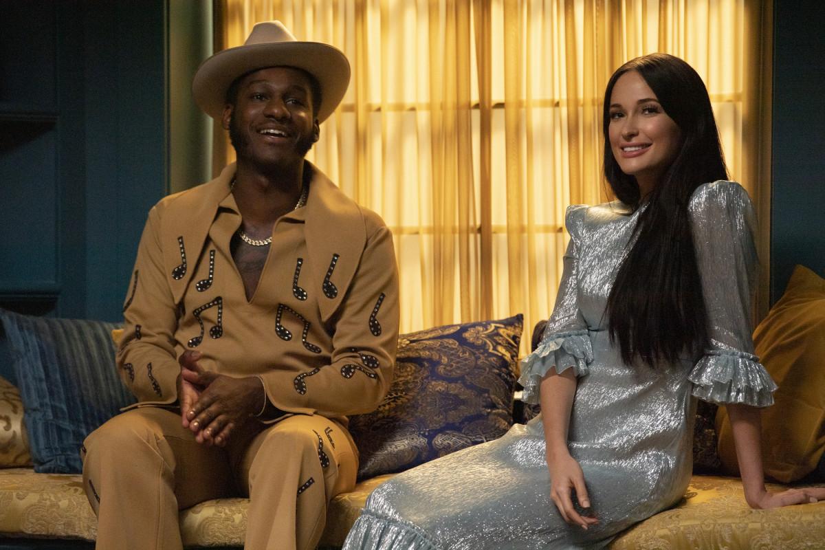 With Leon Bridges. Photo: Anne Marie Fox/Courtesy of Amazon Studios