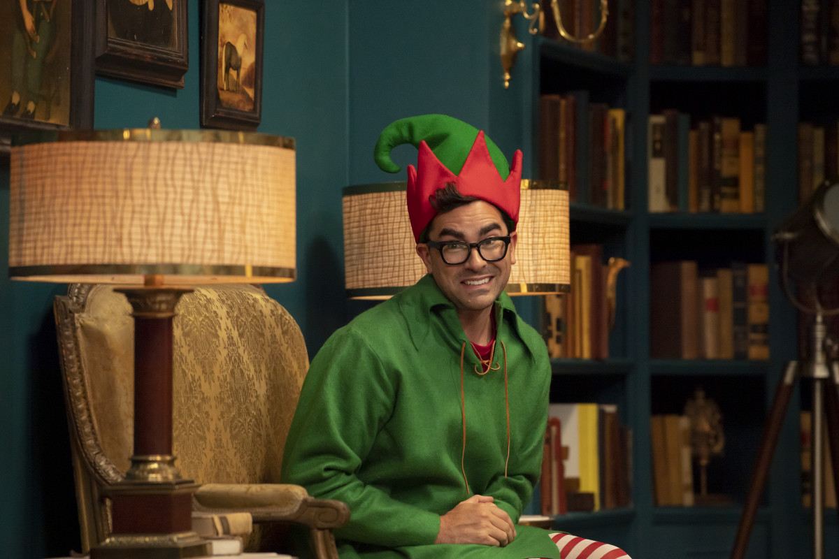 "Narrator elf Dan Levy. (""Stop doing that with your face."") Photo: Anne Marie Fox/Courtesy of Amazon Studios"