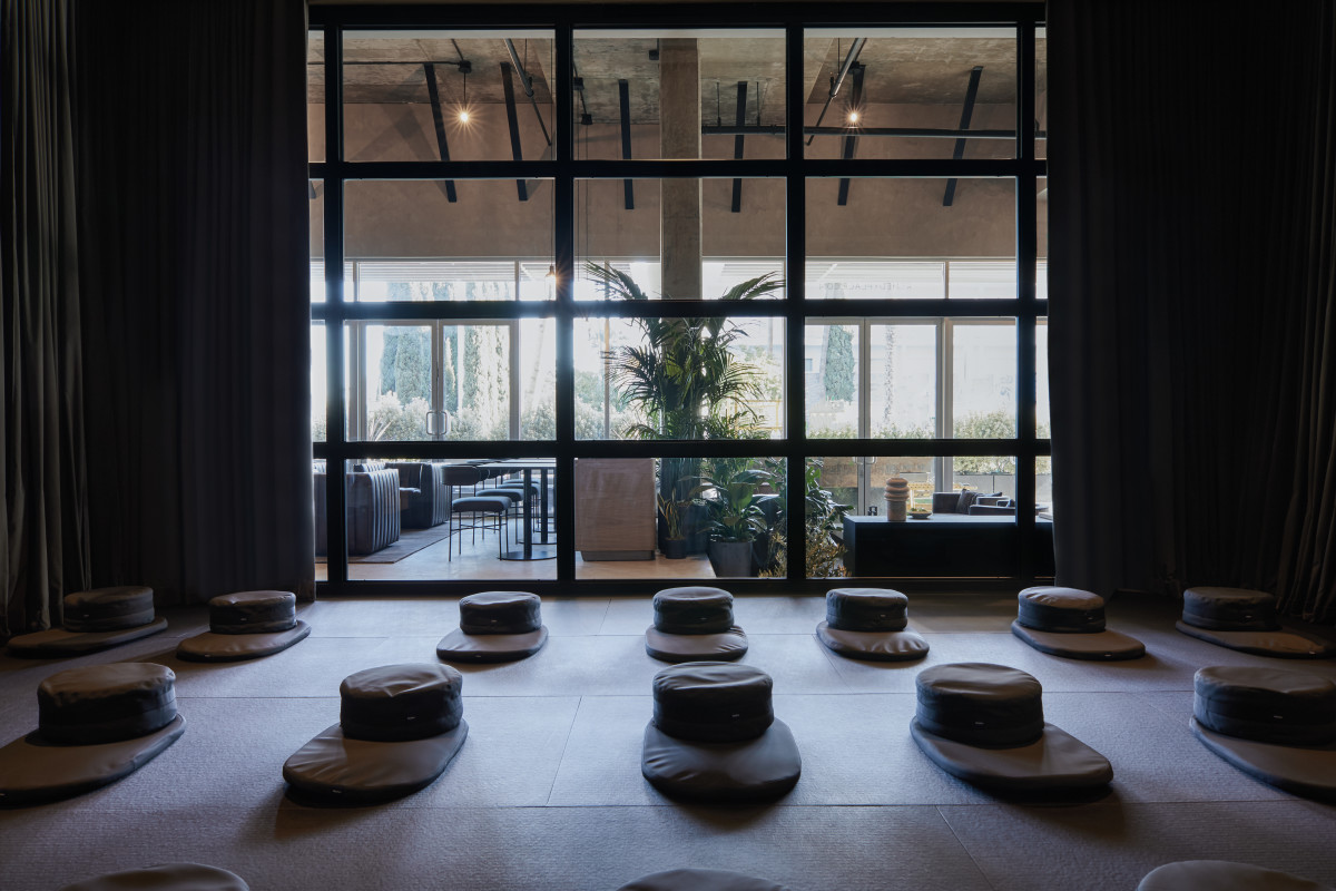Meditation room at Remedy Place. Photo: Madeline Tolle for Remedy Place.