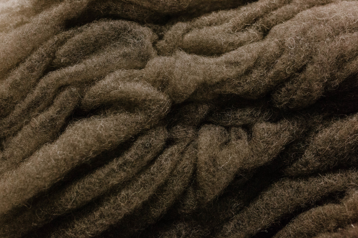 Bison fiber ready to be used in apparel. Photo: Courtesy of United by Blue