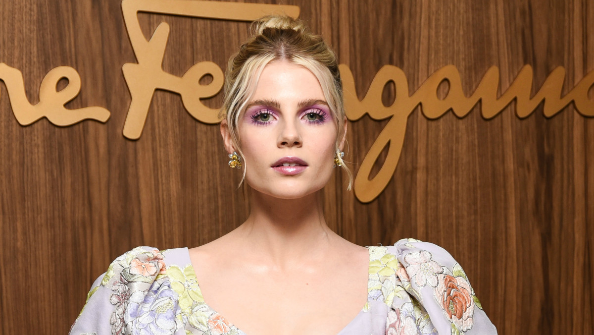 Lucy Boynton at 'Elle' magazine's Hollywood Rising Party.