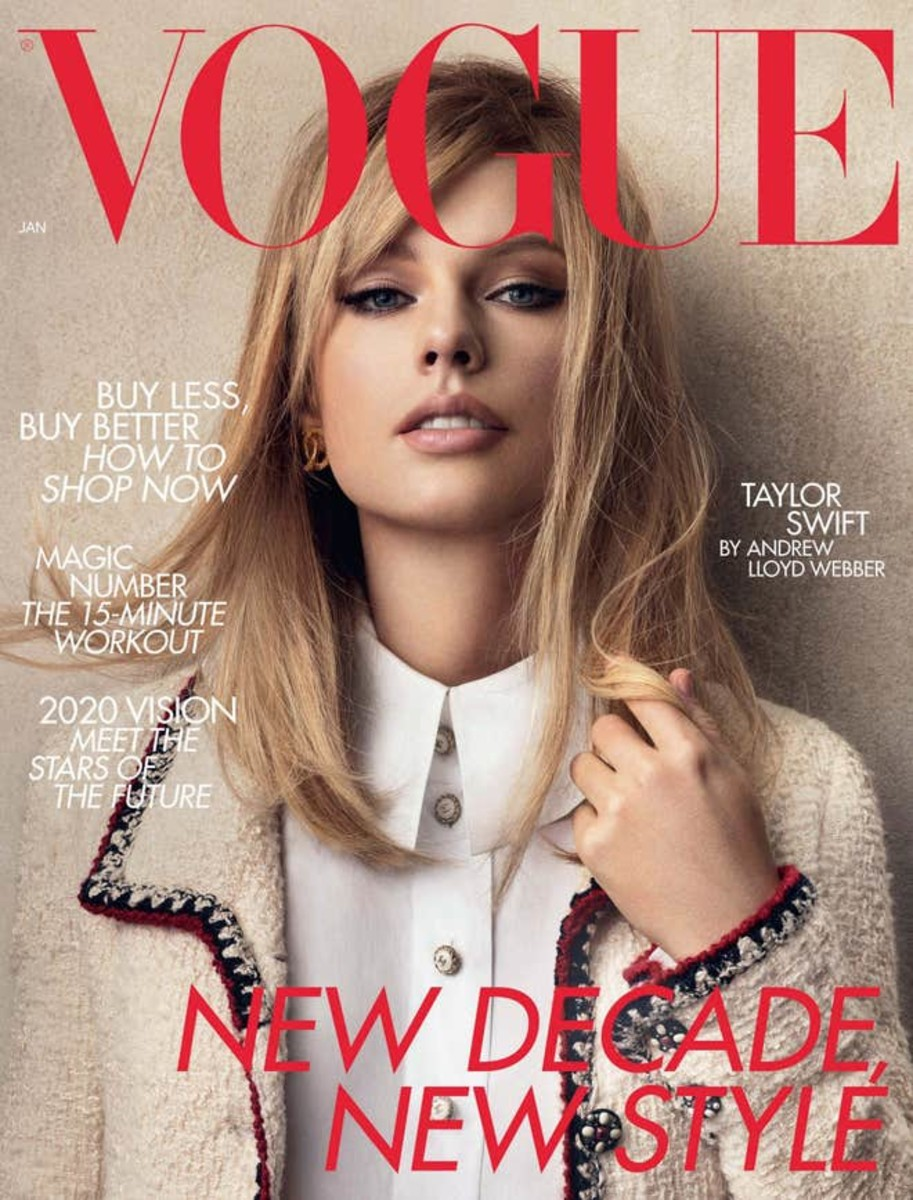 Taylor Swift on the cover of British 'Vogue's January issue. Photo: Craig McDean