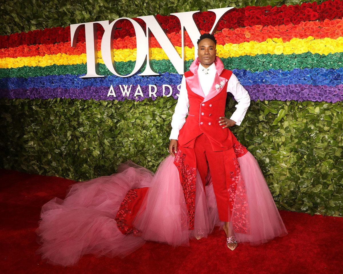 Billy Porter in Celestino Couture at the 2019 Tony Awards. Photo: Taylor Hill/FilmMagic