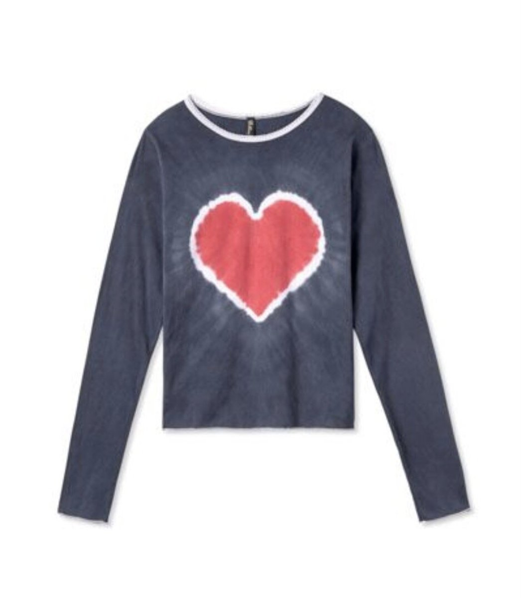 Pretties Tie Dye Heart Baby Tee, $85, available here.