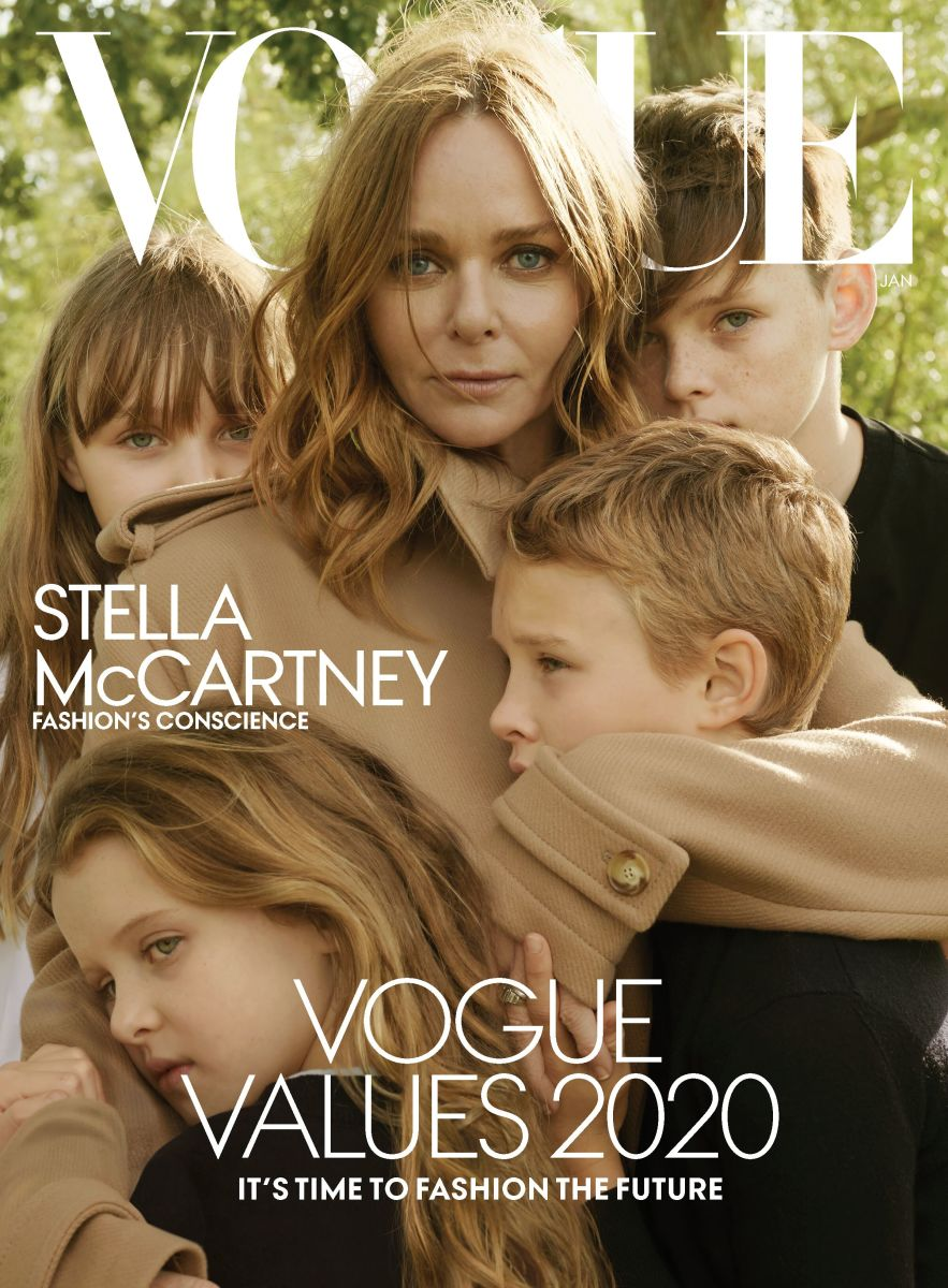 Stella McCartney and her children cover the January 2020 issue of 'Vogue.' Photo: Annie Leibovitz for 'Vogue'
