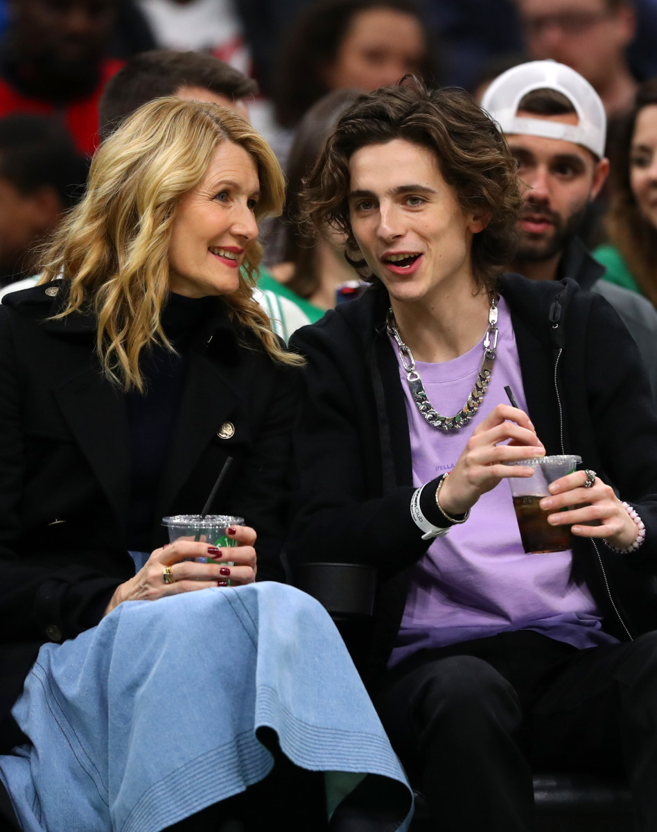 Courtside accessorizing, two ways. Photo: Maddie Meyer/Getty Images