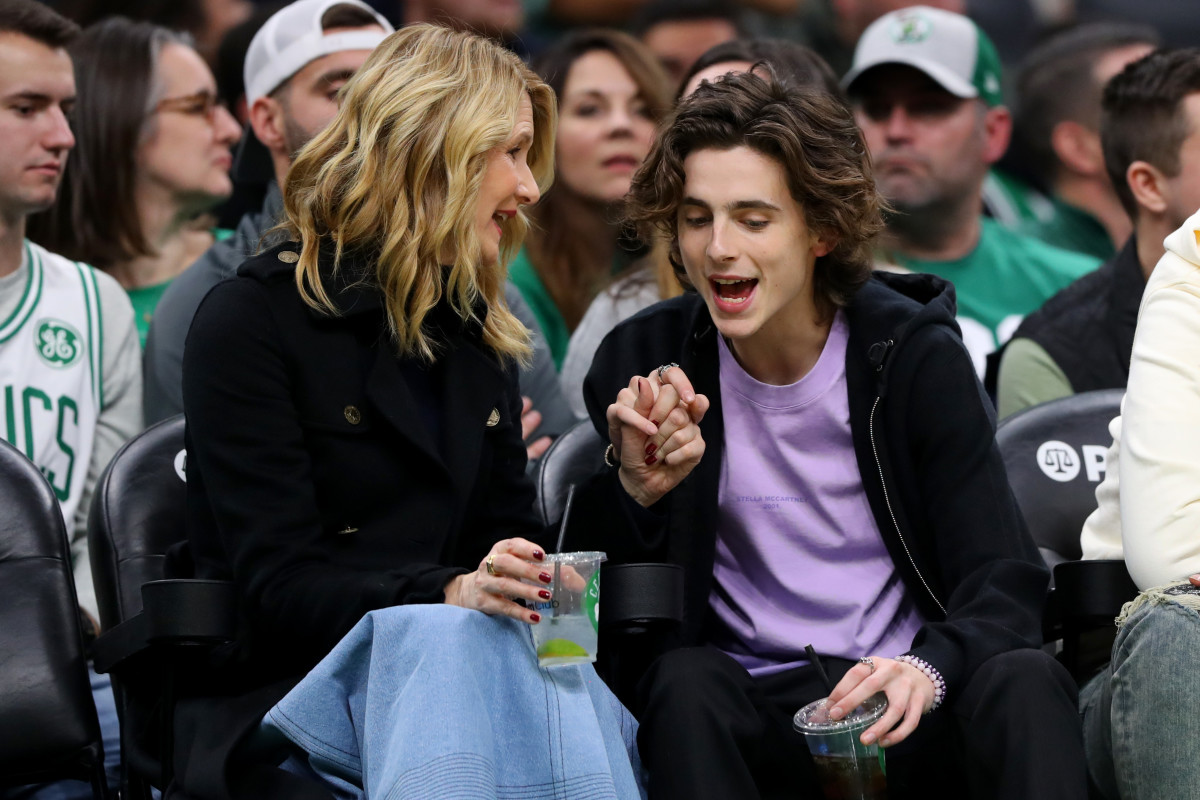 Dern and Chalamet, holding hands! Photo: Maddie Meyer/Getty Images