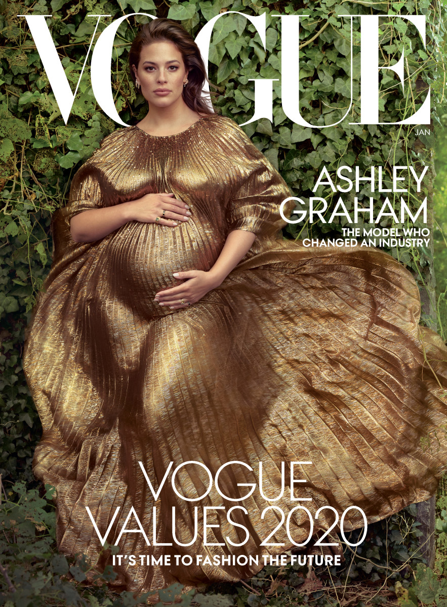 "Ashley Graham on the January 2020 cover of ""Vogue."""