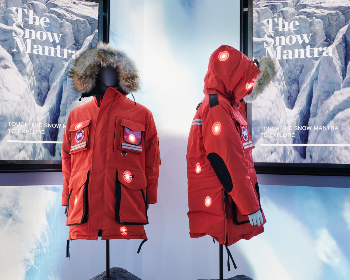 The Snow Mantra parkas and interactive hotspots in The Journey, which allow for accessible research.
