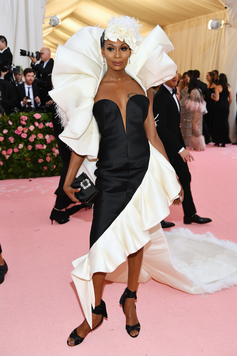 Dominique Jackson wearing Glemaud at the 2019 Met Gala.