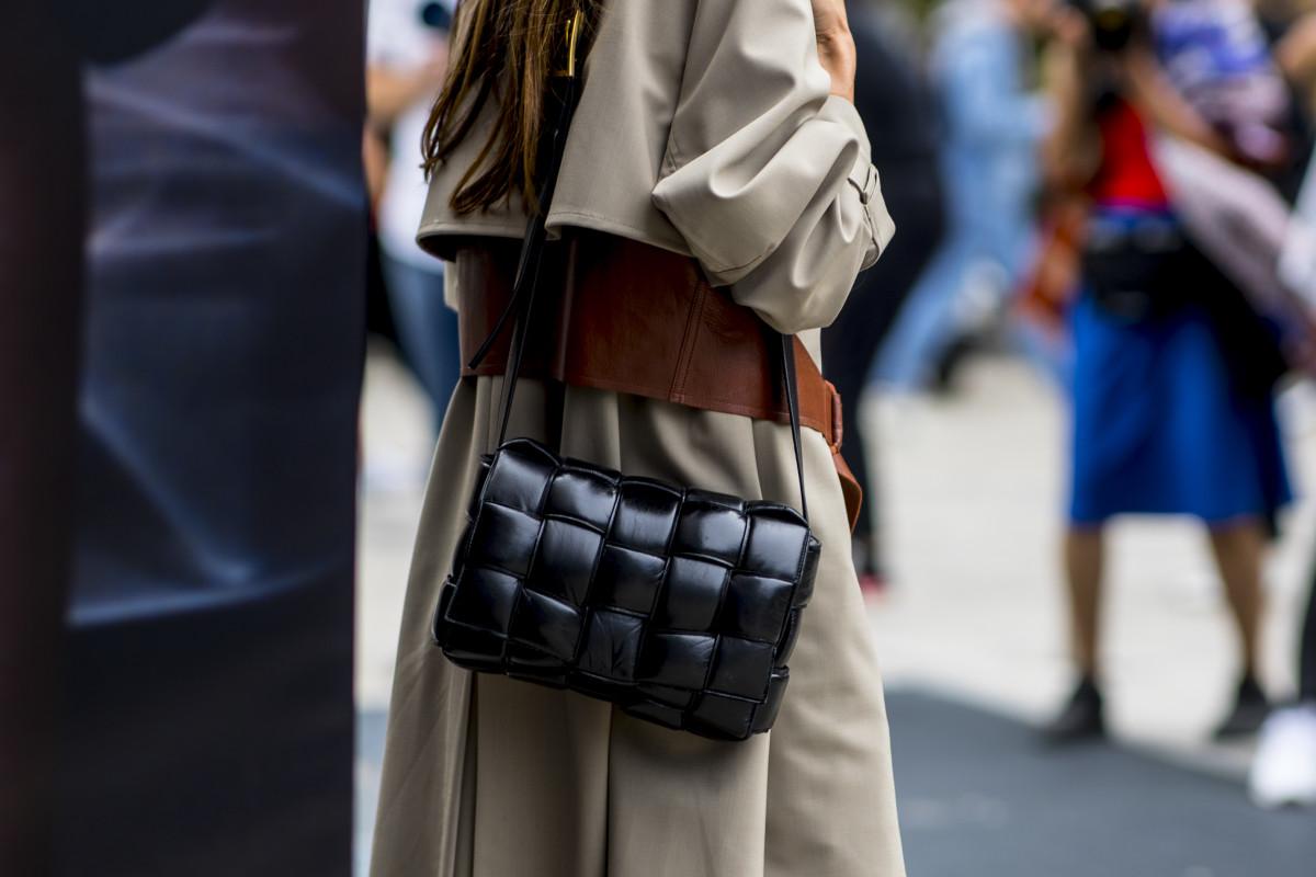 Bottega Veneta's hit quilted bag during Milan Fashion Week in September 2019.