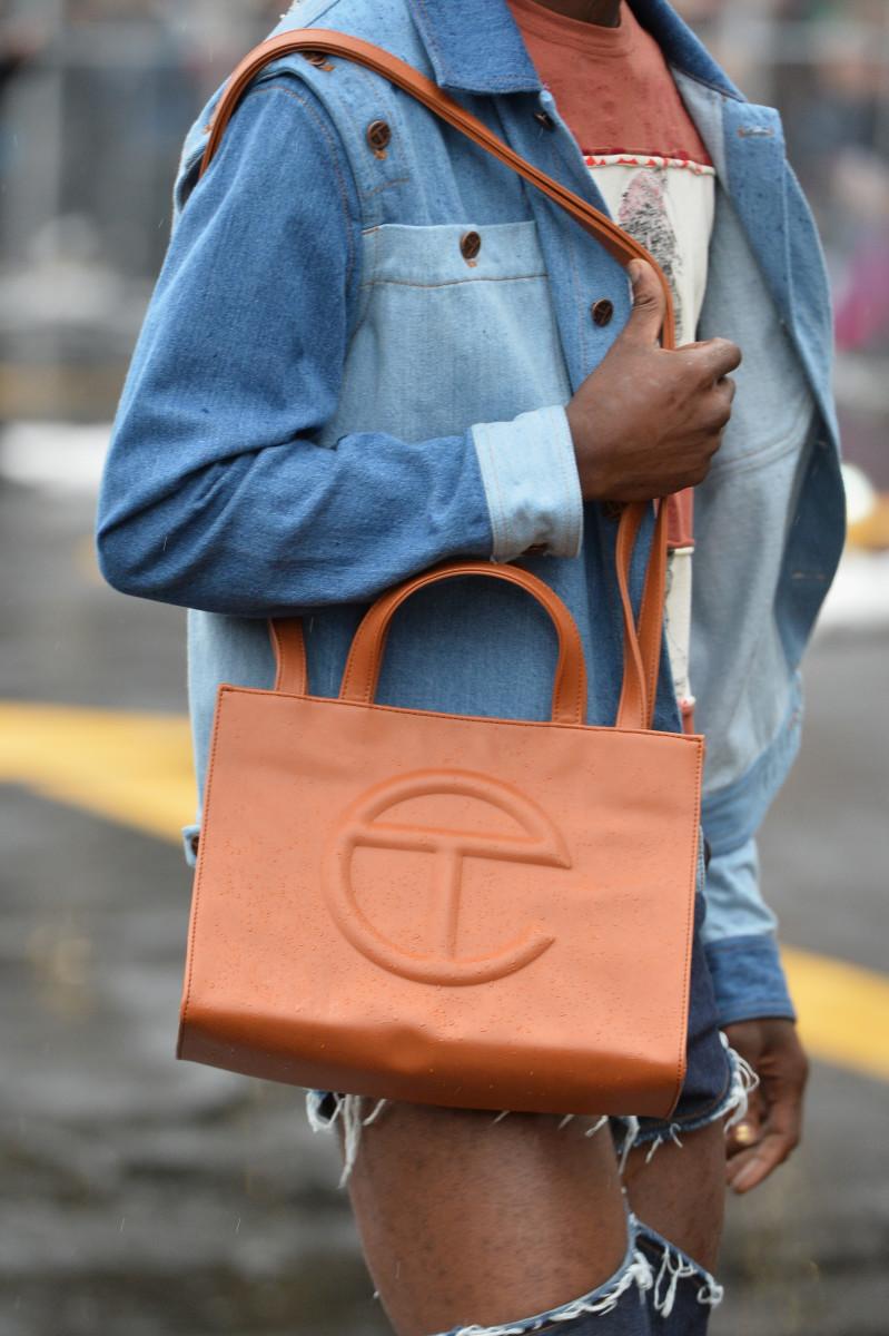 Telfar's T bag during the brand's New York Fashion Week show in September 2018.