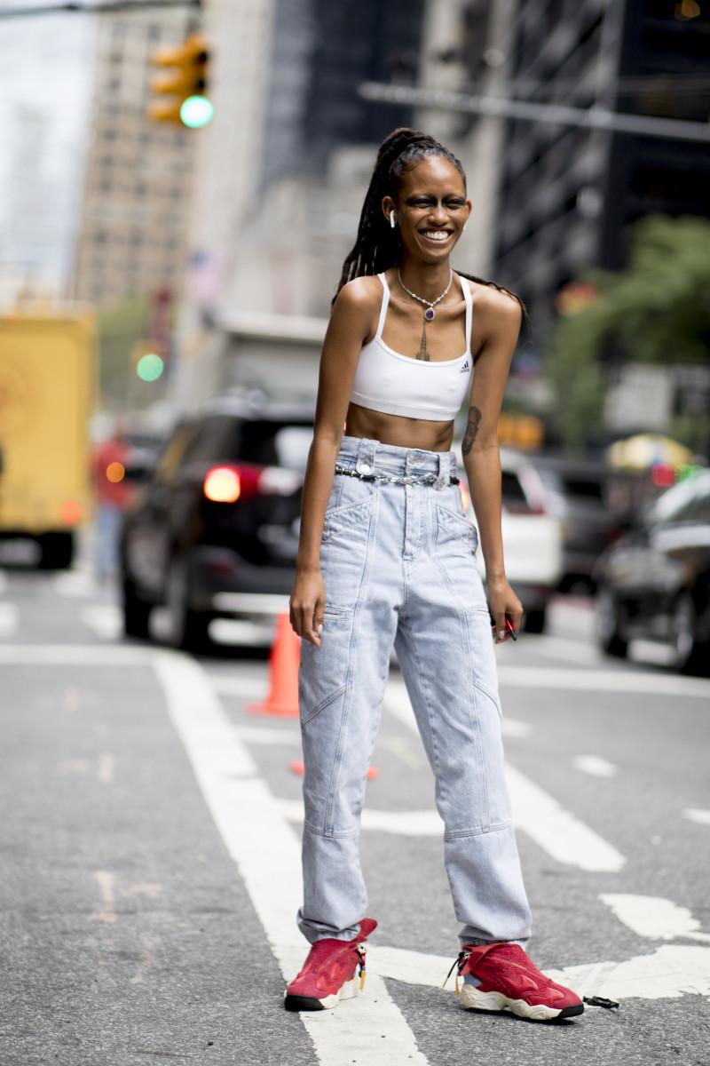 Adesuwa during New York Fashion Week in September 2019.