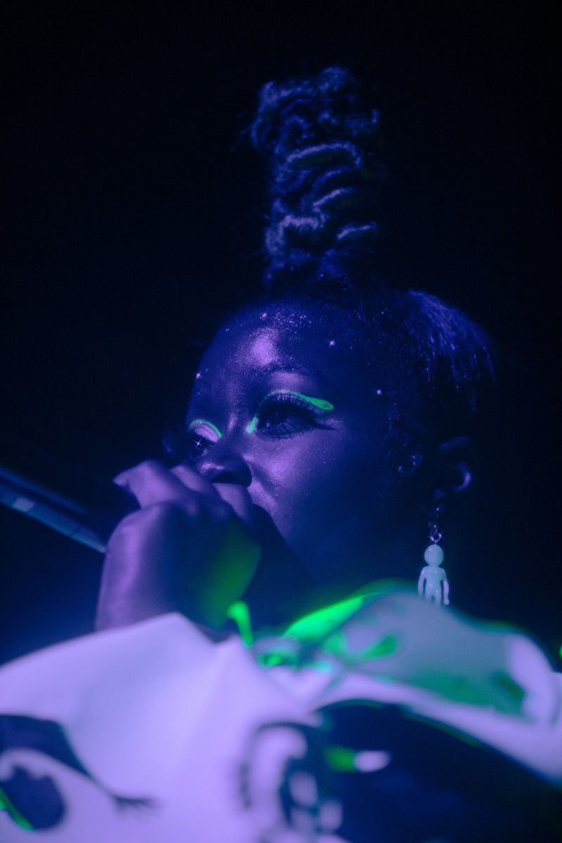 Tierra Whack performs onstage at Whack Factory.