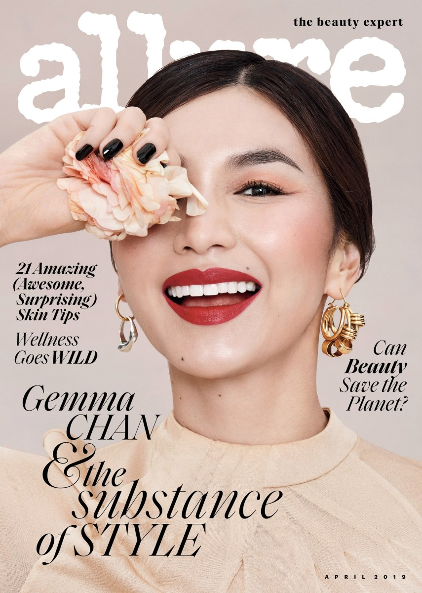 Gemma Chan on the April 2019 cover of 'Allure.'