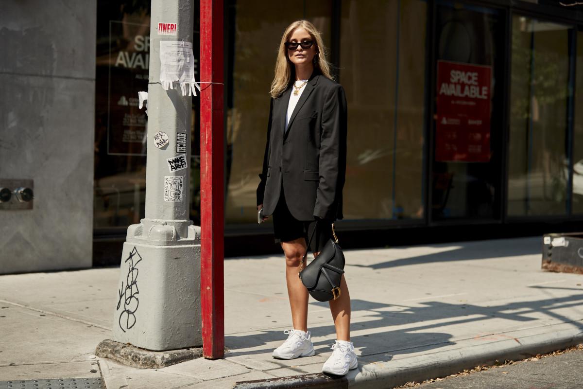 Nikes during New York Fashion Week.