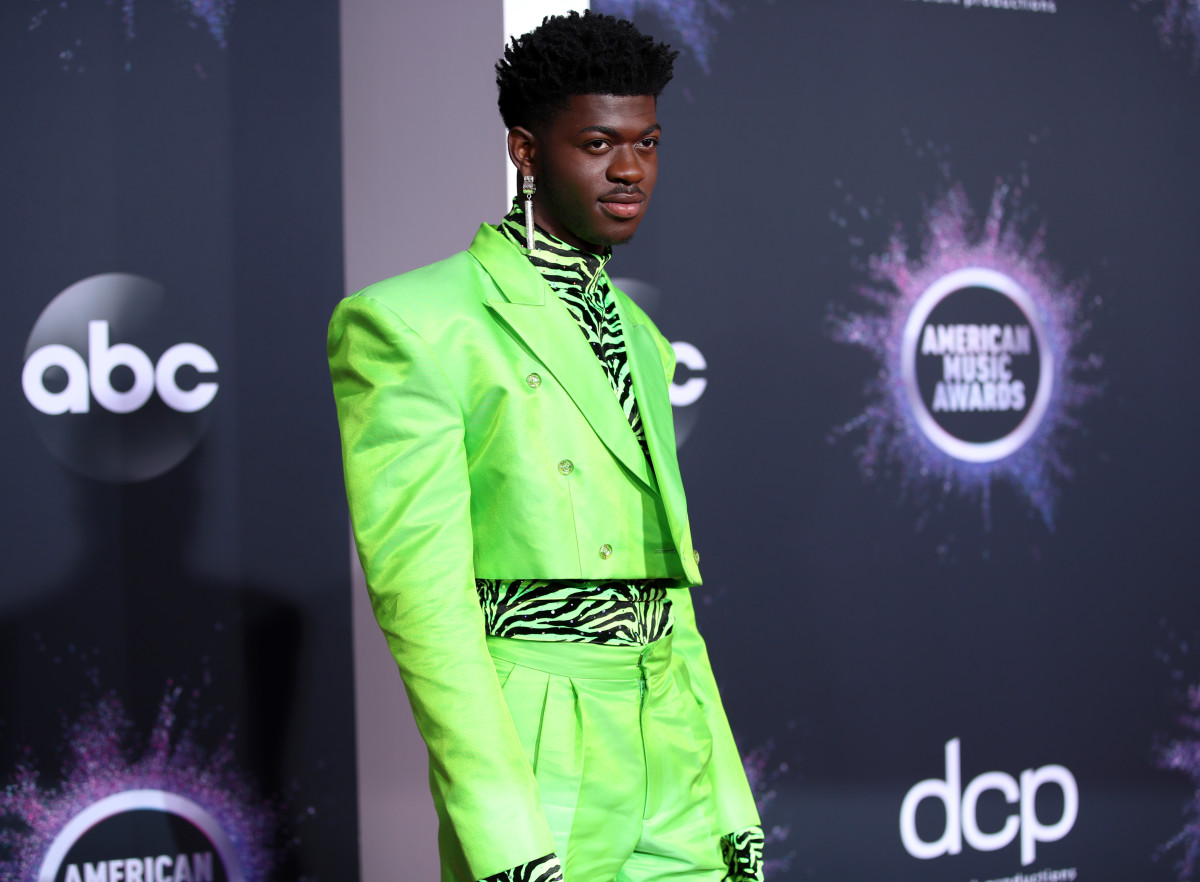 Lil' Nas X wearing Christopher John Rogers at the 2019 AMAs.