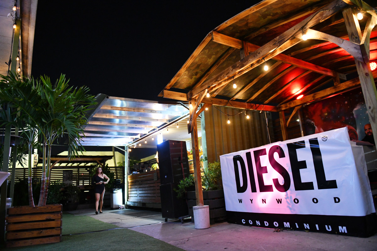 The scene at a party celebrating the opening of the sales center for Diesel Wynwood during Art Basel in Miami.