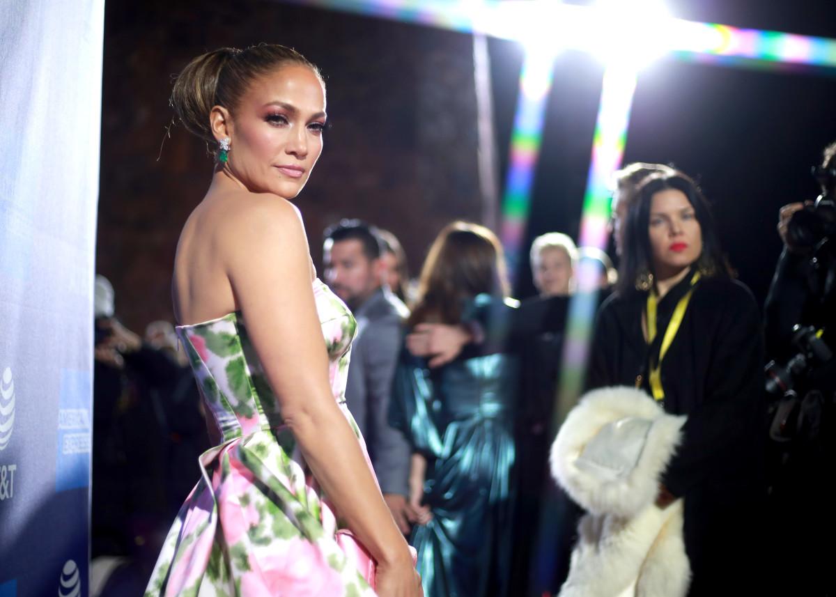 Jennifer Lopez at the 2020 Palm Springs International Film Festival gala.