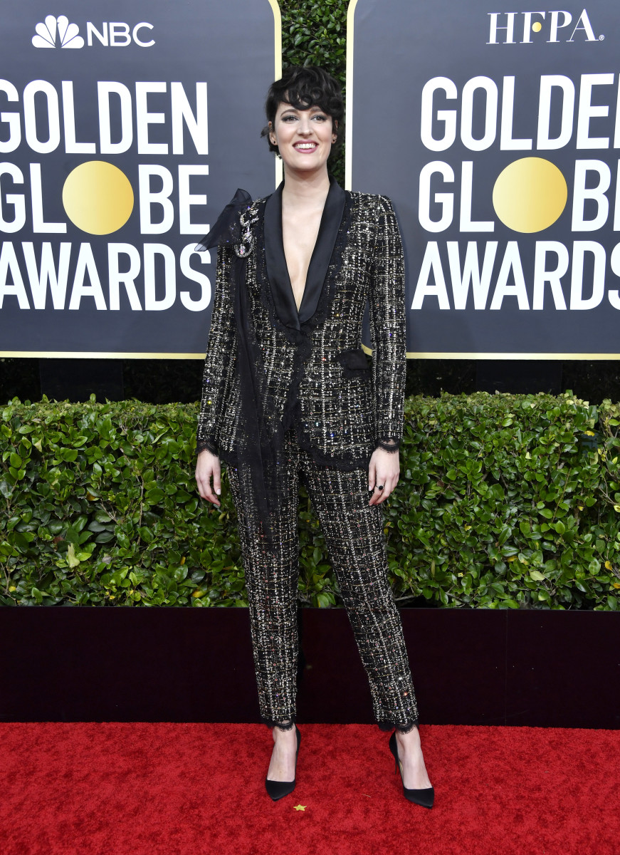 Phoebe Waller-Bridge at the Golden Globes 2020 award show.