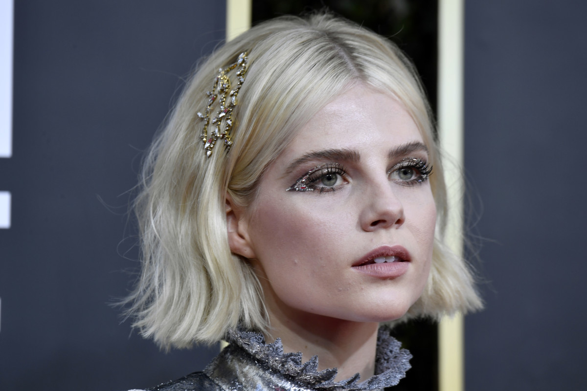 Lucy Boynton at the 2020 Golden Globes.