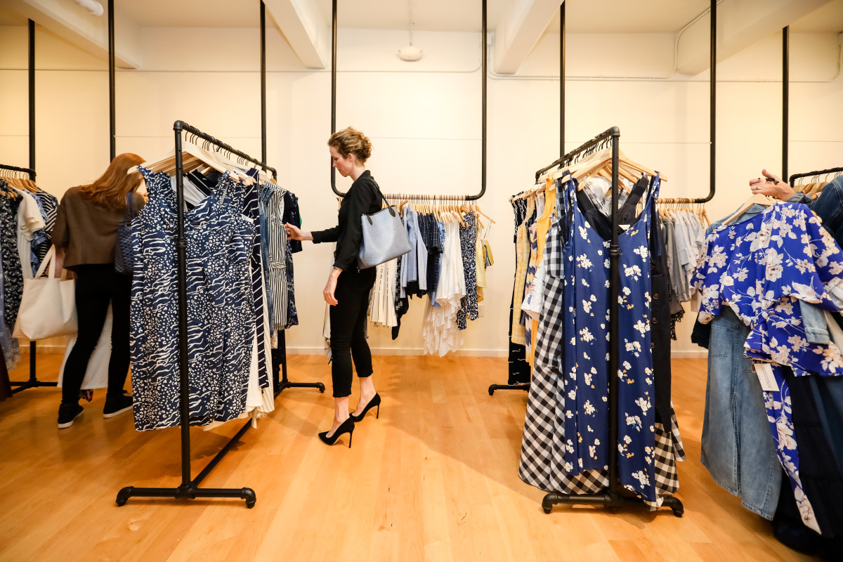 Rent the Runway's West Coast flagship store in San Francisco.