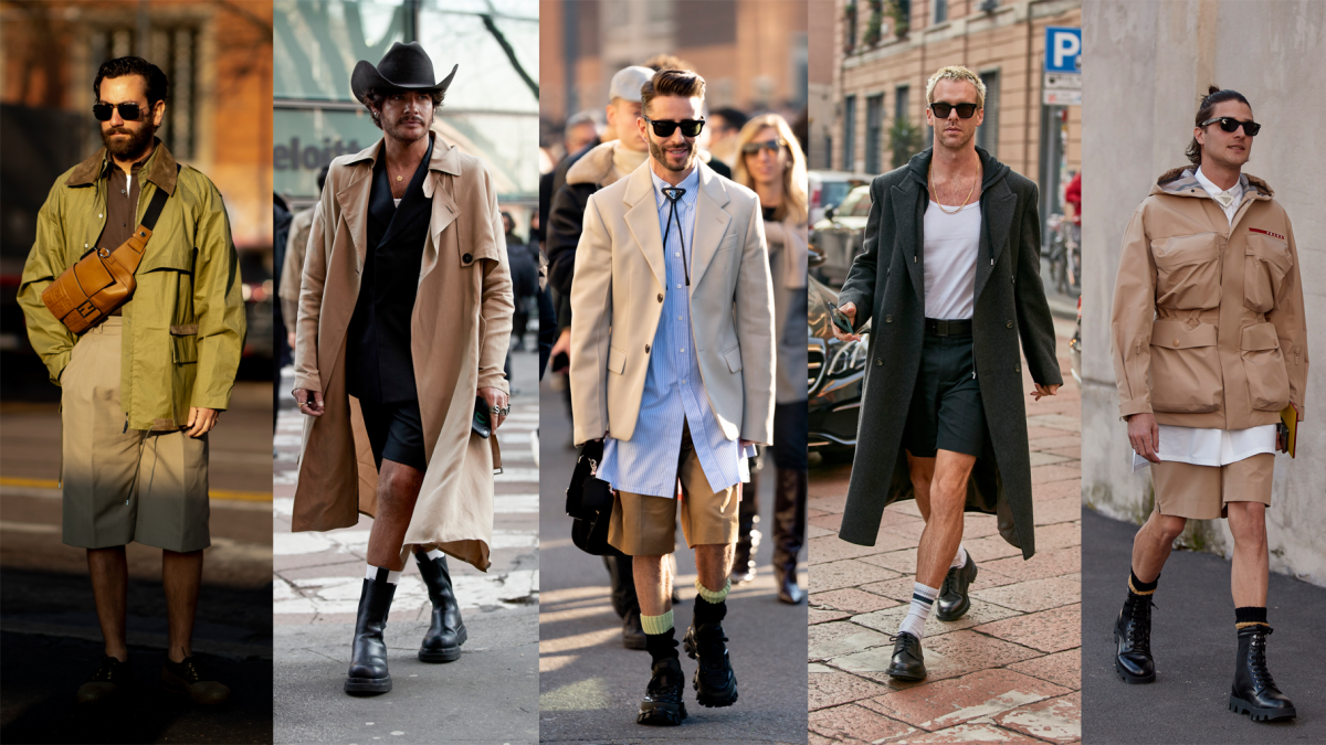 On the street at Milan Fashion Week Men's Fall 2020.