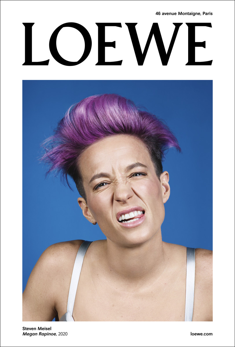 Megan Rapinoe for Loewe's Fall 2020 campaign.