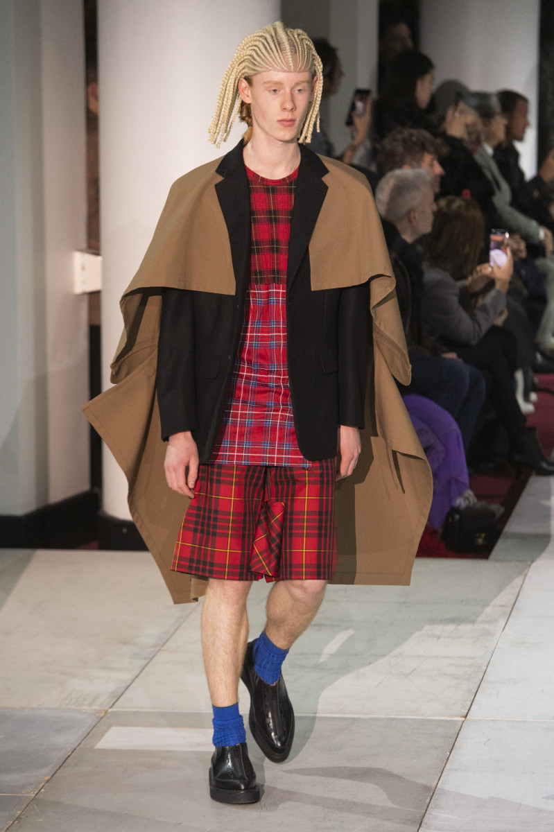 A look from the Comme des Garçons Fall 2020 menswear show.