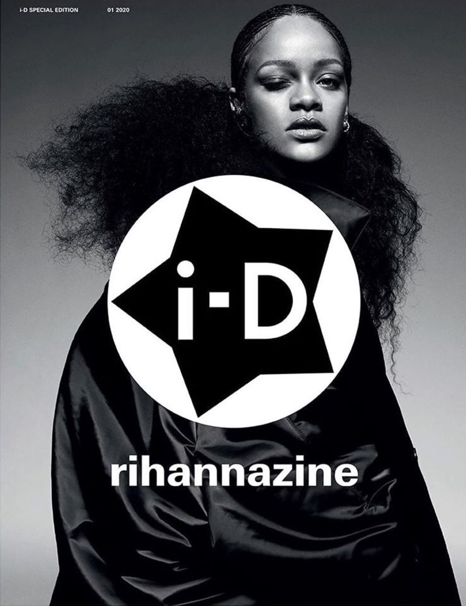 "Rihanna on the cover of ""i-D"" Magazine."