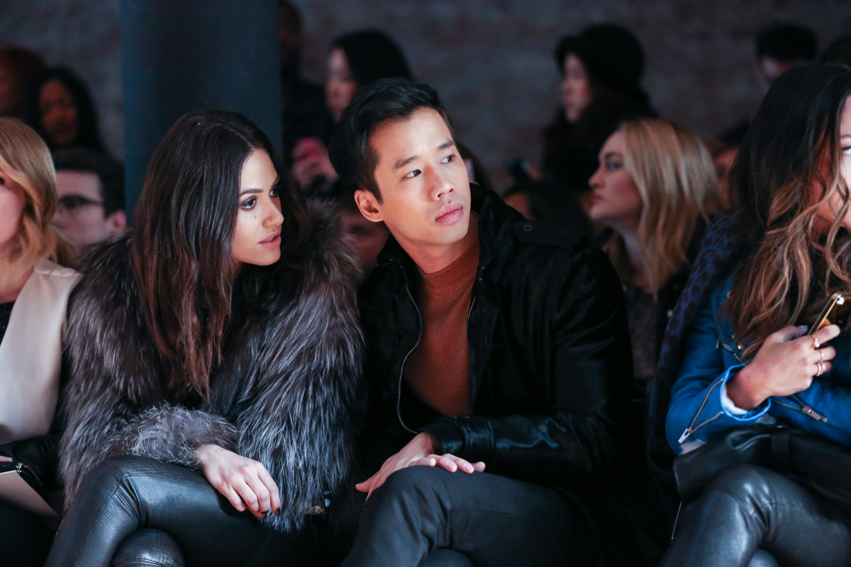 Even before he started styling King, Eng participated in the fashion industry, attending fashion week shows (like the Yigal Azrouel Fall 2014 runway, pictured here) and events.