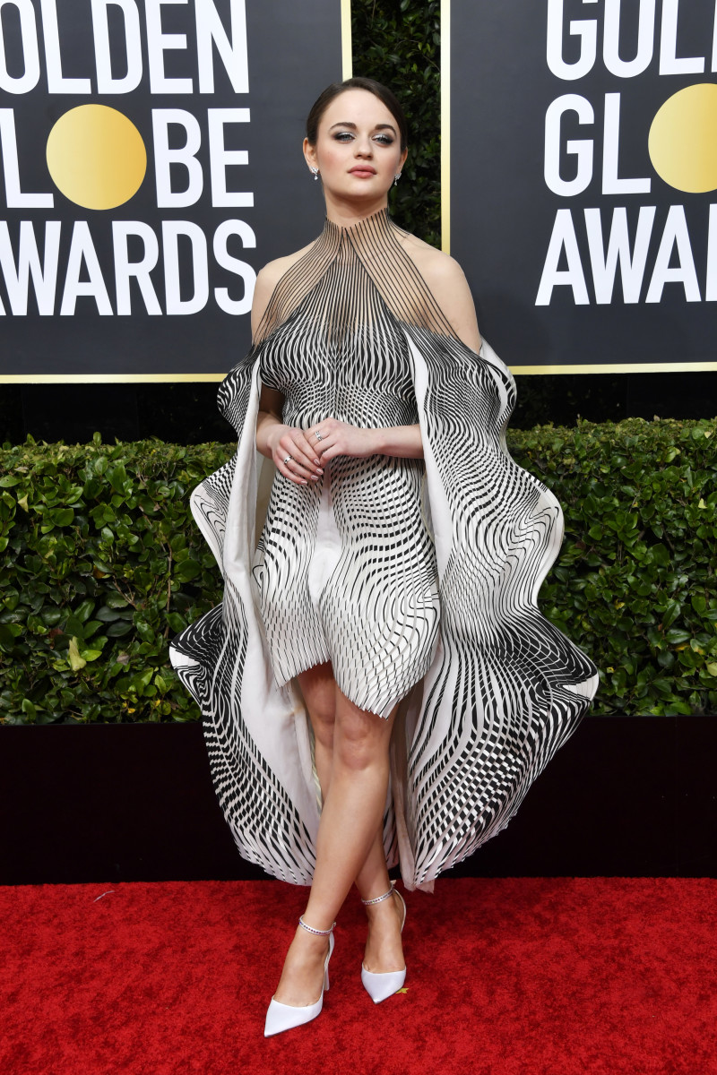 King in Iris van Herpen — styled by Eng — at the 2020 Golden Globes.