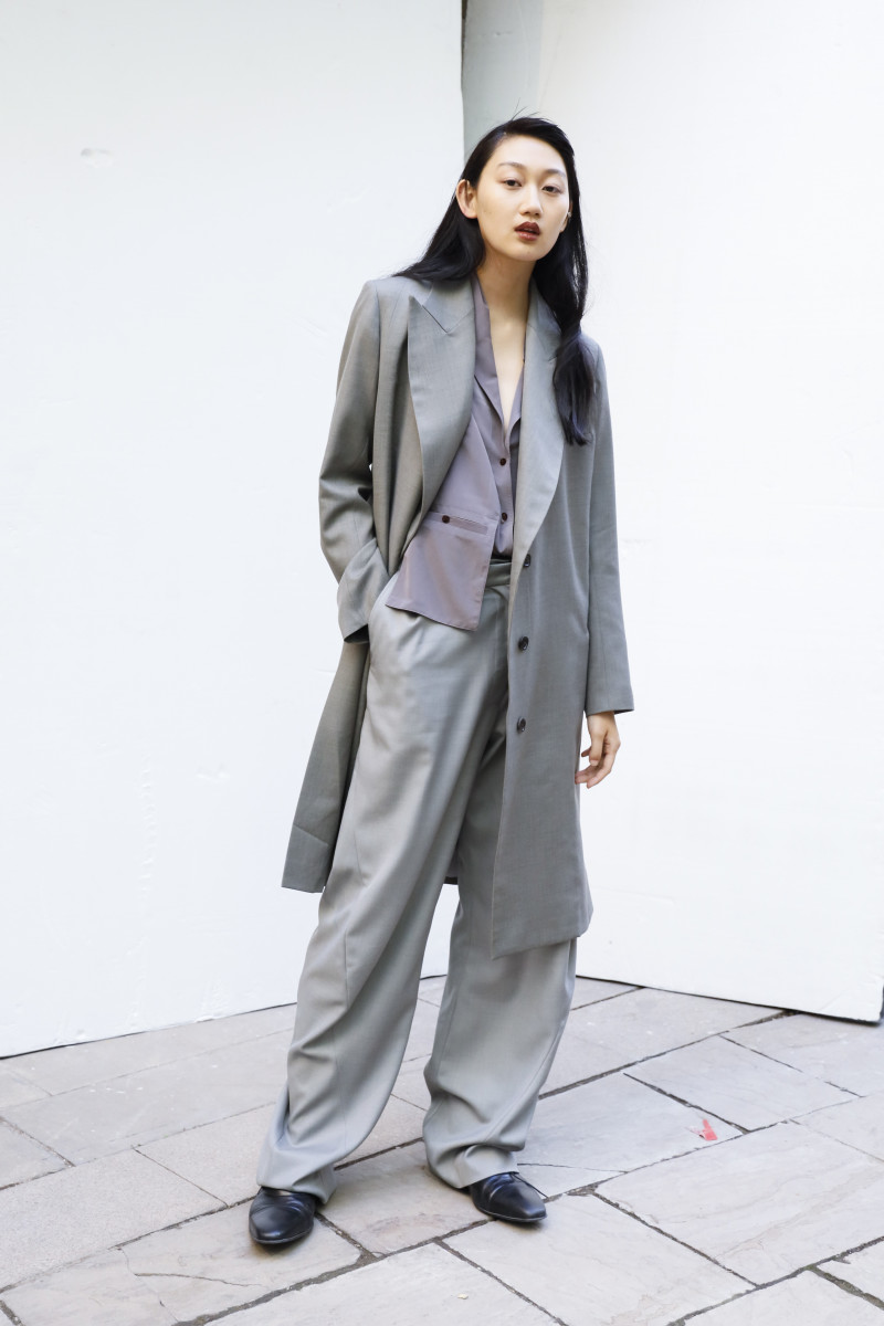 A look from Eftychia's Spring 2020 show during London Fashion Week.
