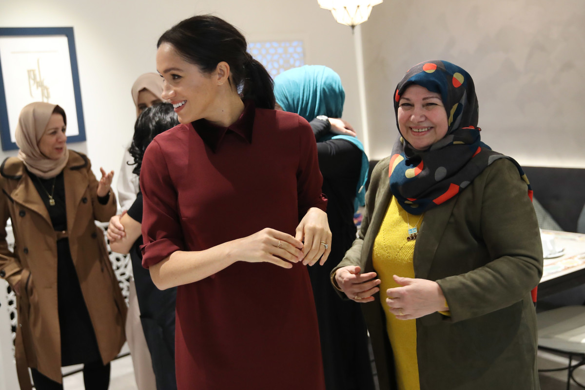 Meghan, Duchess of Sussex, visits the Hubb Community Kitchen in London. Photo: Jack Taylor/Getty Images