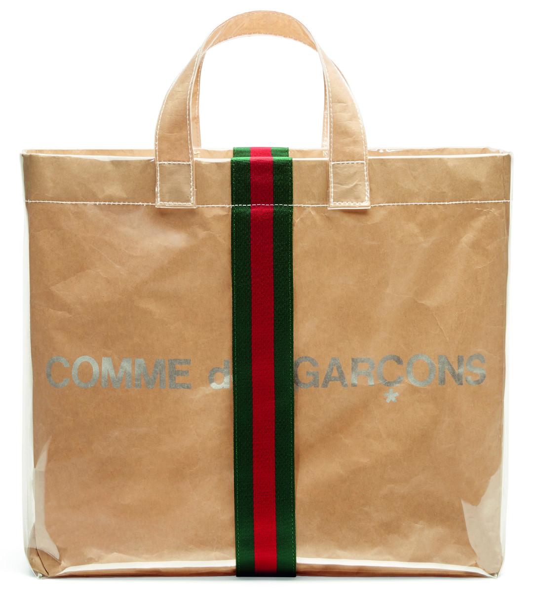The Gucci xComme des Garçons shopper. Photo: Courtesy of Gucci