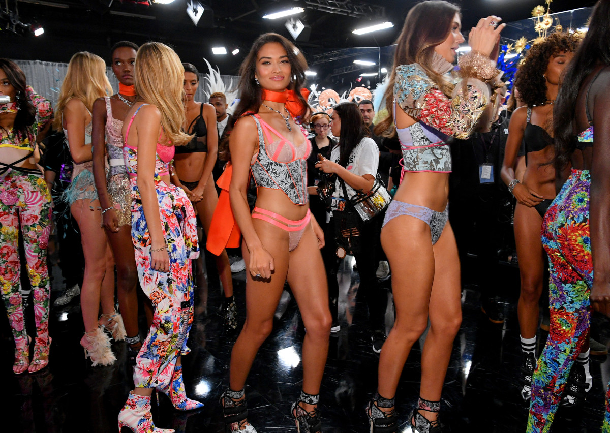 8a26ff111b Backstage at the 2018 Victoria s Secret Fashion Show. Photo  Dia  Dipasupil Getty Images