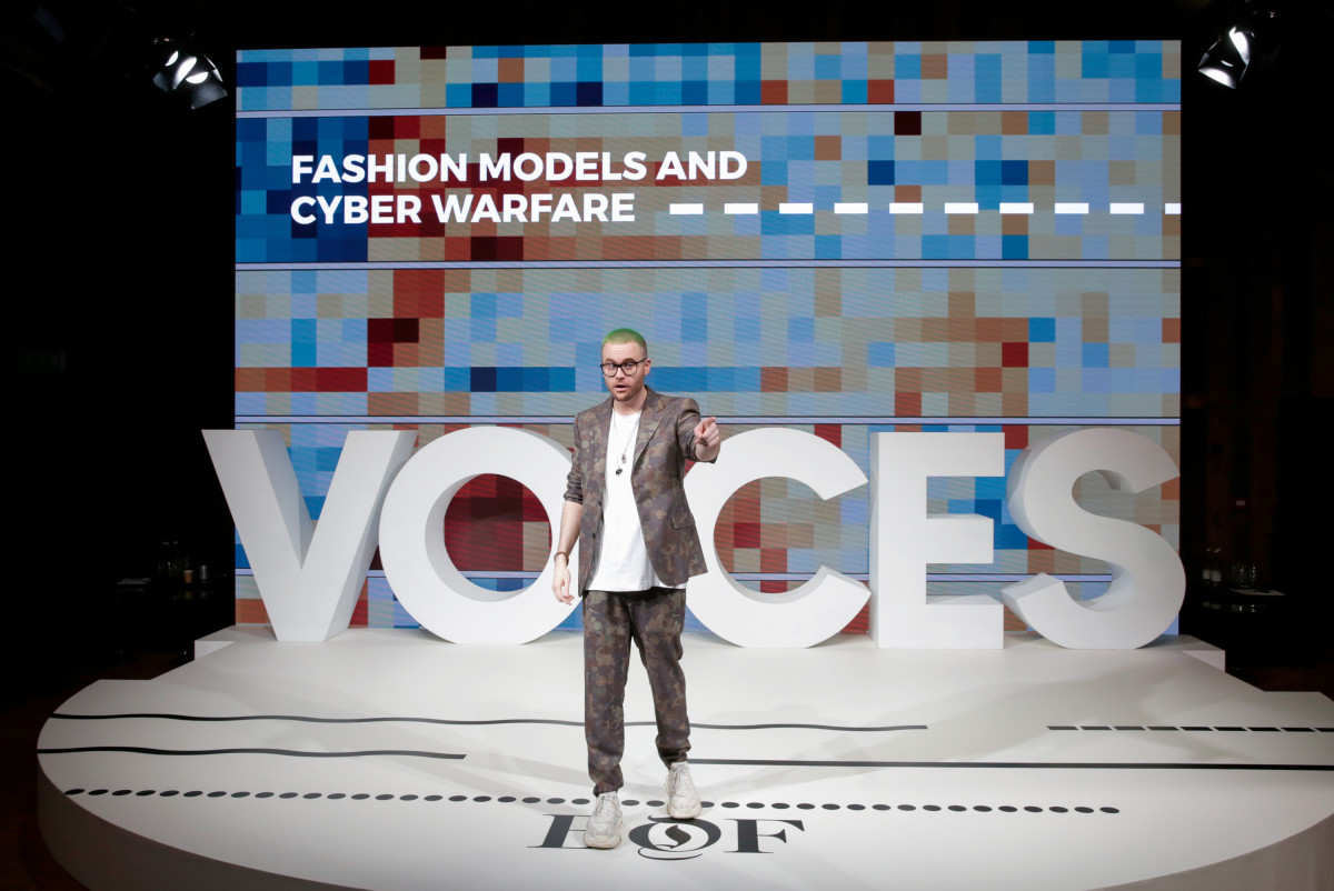 "Christopher Wylie at ""Business of Fashion'""s Voices. Photo: John Phillips/Getty Images for The Business of Fashion)"