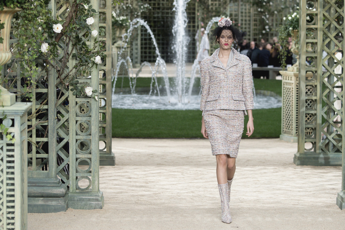 A look from Chanel's Spring 2018 Haute Couture runway show. Photo: Kristy Sparow/Getty Images