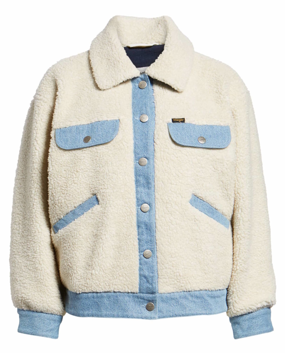 Wrangler Fleece & denim Jacket, $148, available here.