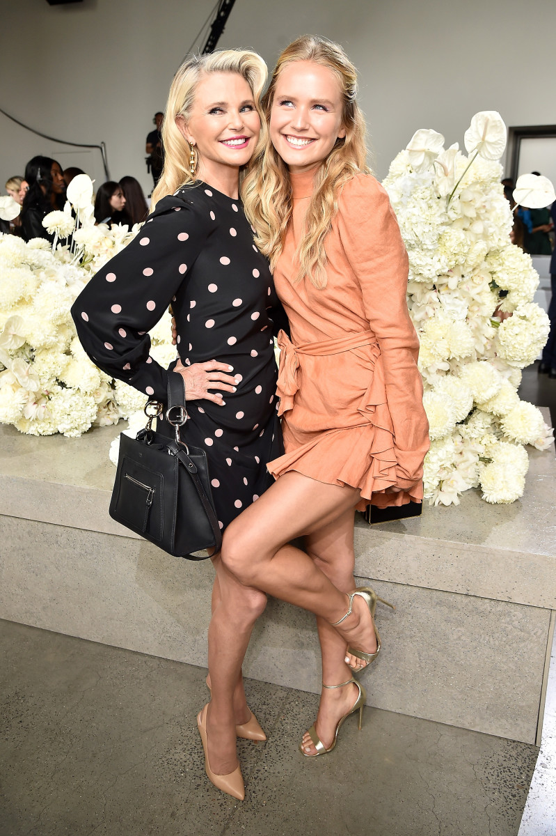 Christie Brinkley and daughter Sailor Brinkley Cook at Zimmermann's Spring 2019 show during New York Fashion Week. Photo: Theo Wargo/Getty Images