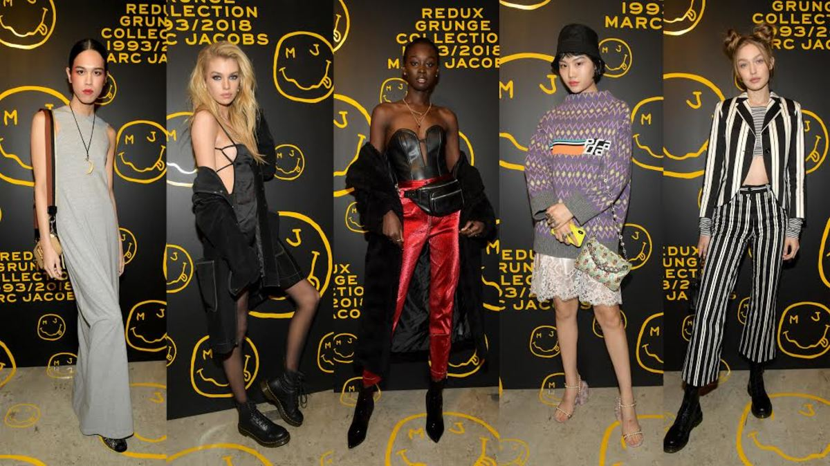 Dara Allen, Stella Maxwell, Subah Koj, Ting Chen and Gigi Hadid at the opening celebration of The Marc Jacobs Redux Grunge Collection and opening of Marc Jacobs Madison in New York City. Photos: Ben Gabbe/Getty Images for Marc Jacobs