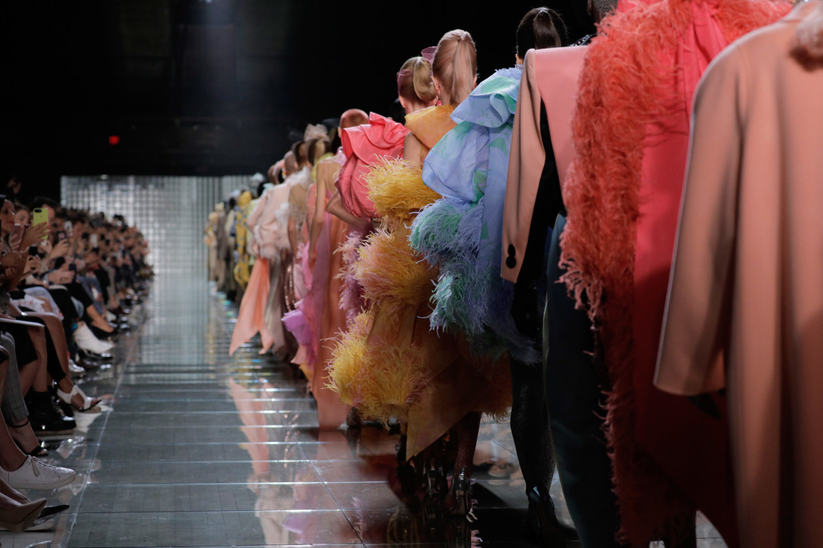 The finale of Marc Jacobs's Spring 2019 show during New York Fashion Week. Photo: Randy Brooke/WireImage